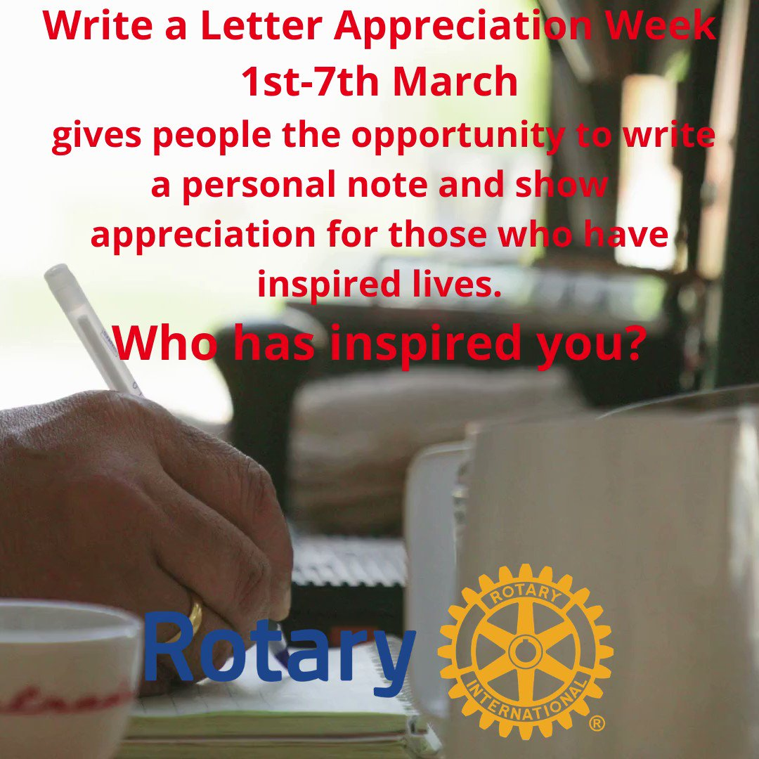 """Write a letter appreciation week"" 1st-7th March Who inspires you? #inspiration #appreciationpost"