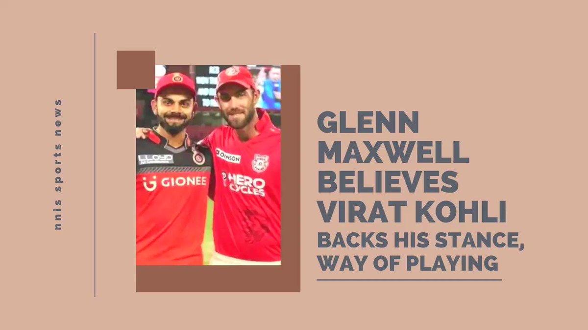 Glenn Maxwell Believes Virat Kohli Backs His Stance, Way Of Playing @Gmaxi_32 @imVkohli @RCBTweets @ABdeVilliers17 @CoachHesson @IPL #glennmaxwell #Maxwell #IPL2021 #IPL2021Auction #Cricket #ViratKohli