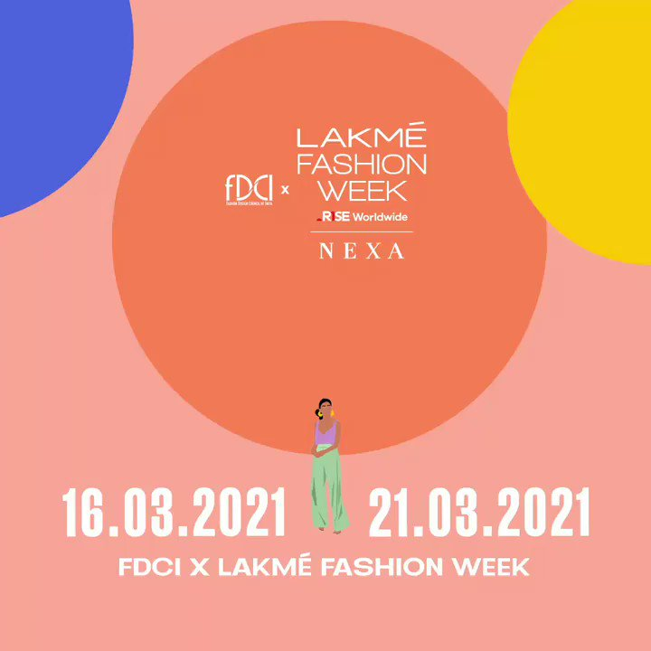🗓 Mark your calendars!  @LakmeFashionWk, in partnership with the @fdciofficial, will present to you the first ever phygital Fashion week from 16th March to 21st March 2021.  Stay tuned!  #LakmeFashionWeek #5DaysOfFashion #LFW #LFW2021 #RiseAsOne