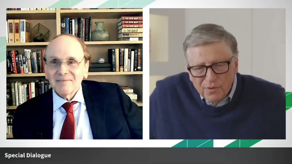 .@BillGates @GatesFoundation shares his thoughts on the magnitude of the climate challenge and the difficulty to achieve net zero carbon emissions by 2050 with to @DanielYergin @IHSMarkit at #CERAWeek