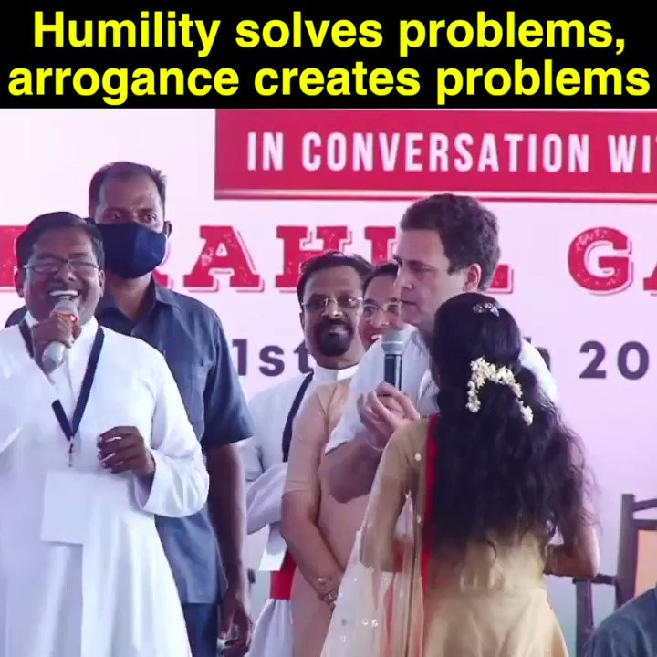If I come to you and ask- what do you need? What is required? What do the teachers and students require? Then that is humility on my part. Humility solves problems, arrogance creates problems: Shri @RahulGandhi #TNwithRahulGandhi