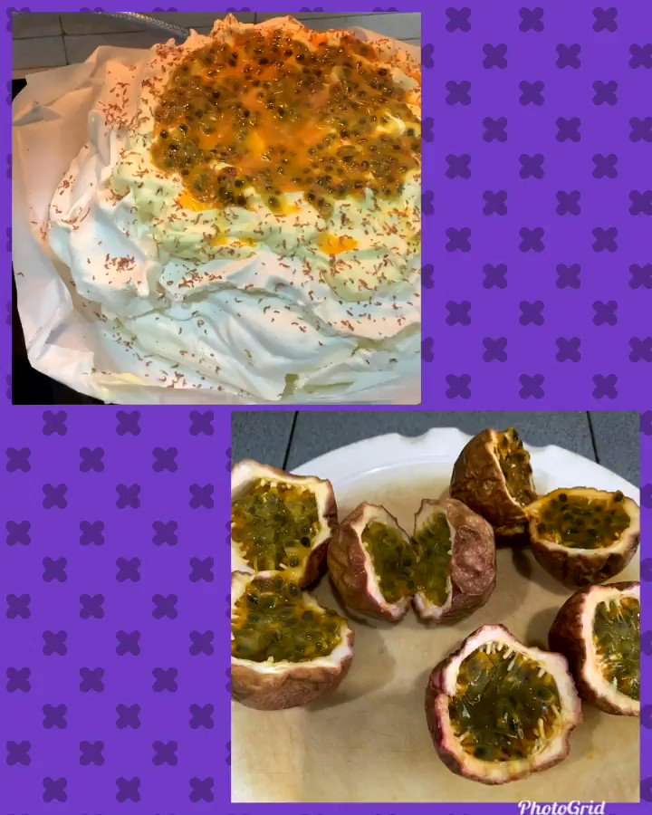 Been thinking about this since #Christmas..the sharp/bitter taste of Passion fruit paired with something sweet like Pavlova..not new I know, but was 'gifted' some fruit ,so decided to give it a go.Taste is amazing; the contrast, phew! #sweet  #food #Monday.
