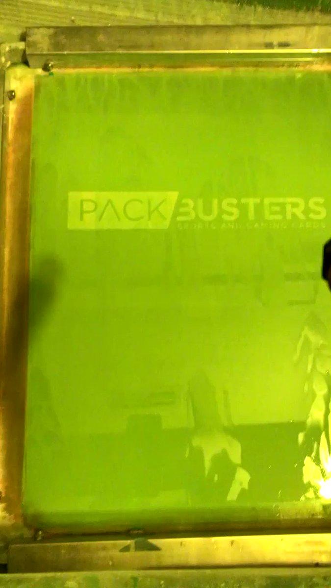 Washout of custom order for Pack Busters. #sportscards #tshirts #customorder #packbusters #washout #screenprep