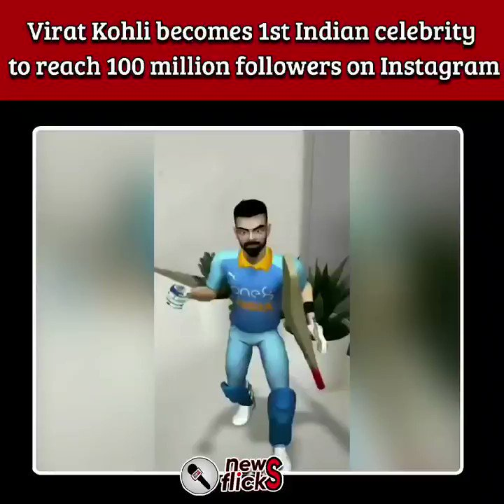 #ViratKohli Completes 100 Million on #Instagram , becomes 1st #Indian , #asian , #cricketer & 4th #Athlete to reach the #milestone @imVKohli #TeamIndia #Cricket  #Congratulations #MoteraStadium #COVID19Vaccine #COVID19 Congratulations King #Modi #100MillionViratiansOnInsta #BCCI
