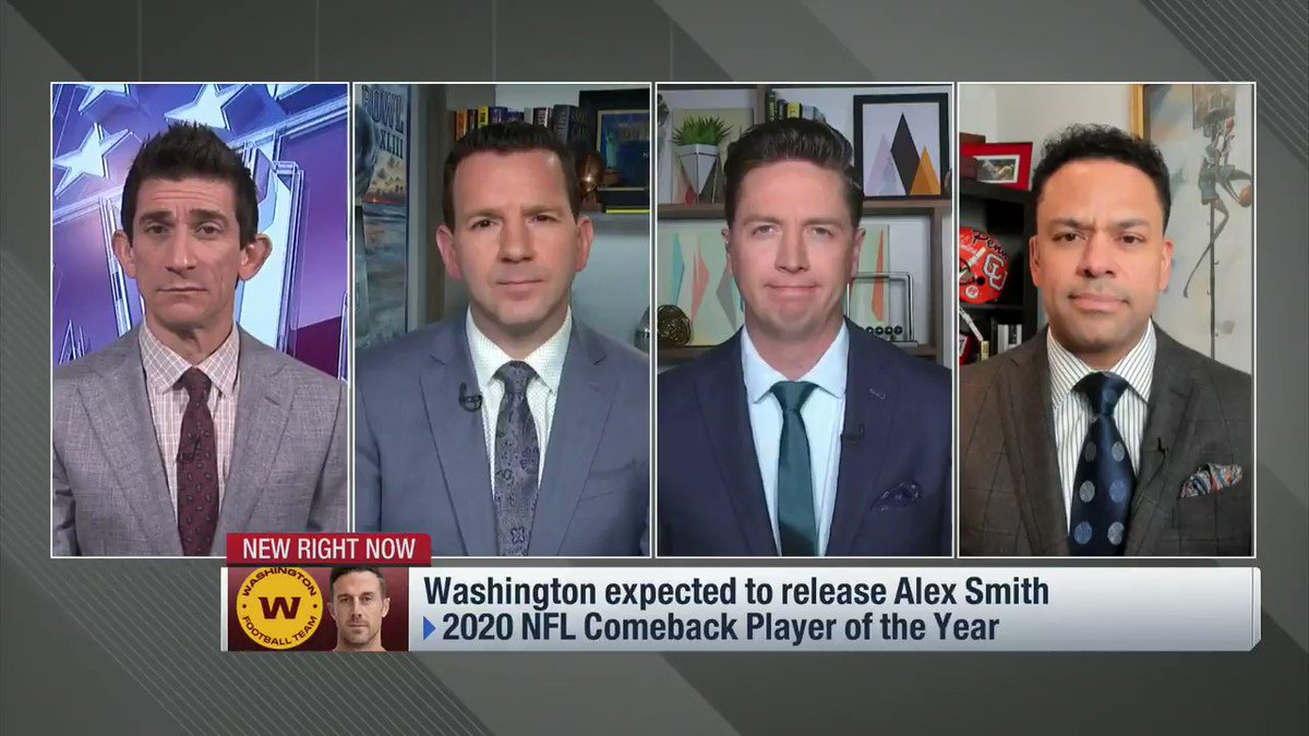 From NFL Now:  The Washington Football Team is expected to release QB Alex Smith and he still wants to play. If that holds, the #Bears would be one of the teams that makes sense...