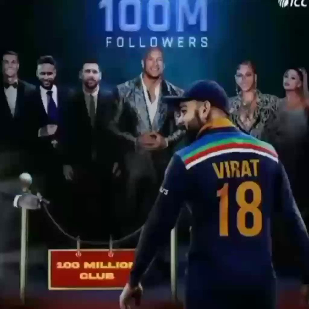 Virat kohli is The First Cricket And Asian Who Get  100M Followers On Insta @imVkohli #viratkholi #100MillionViratiansOnInsta #kohli #Cricket #TeamIndia