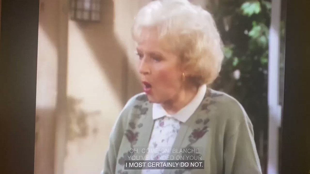 What do you care? You go through men faster than...(S07E01) #stolafstories #goldengirls #bettywhite