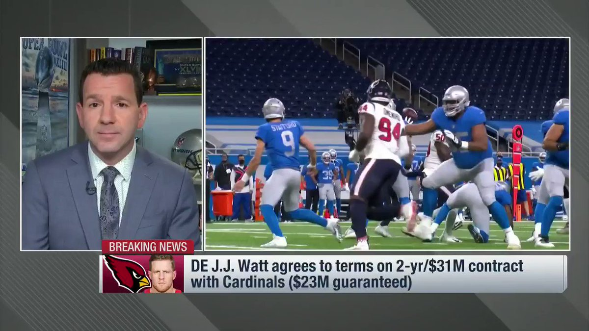 J.J. Watt was never going to chase a ring on a cut-rate deal. The #Cardinals paid up to bring him to Arizona, and Watt loves their attacking scheme -- one he's thrived in before. @nflnetwork