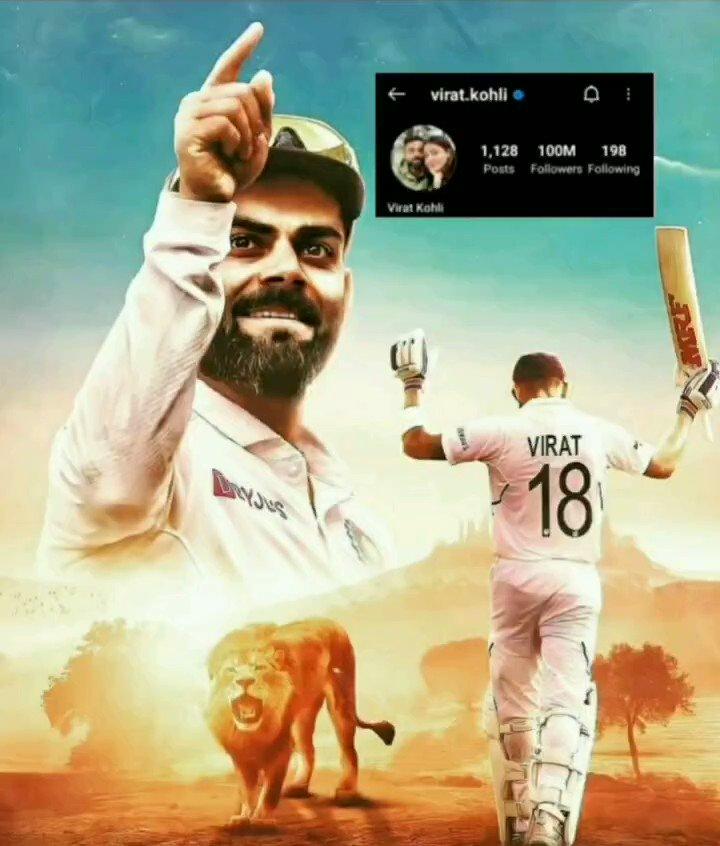 100 Million, Asia's Most Followed Personality... @imVkohli  #ViratKohli #100MillionViratiansOnInsta #Cricket