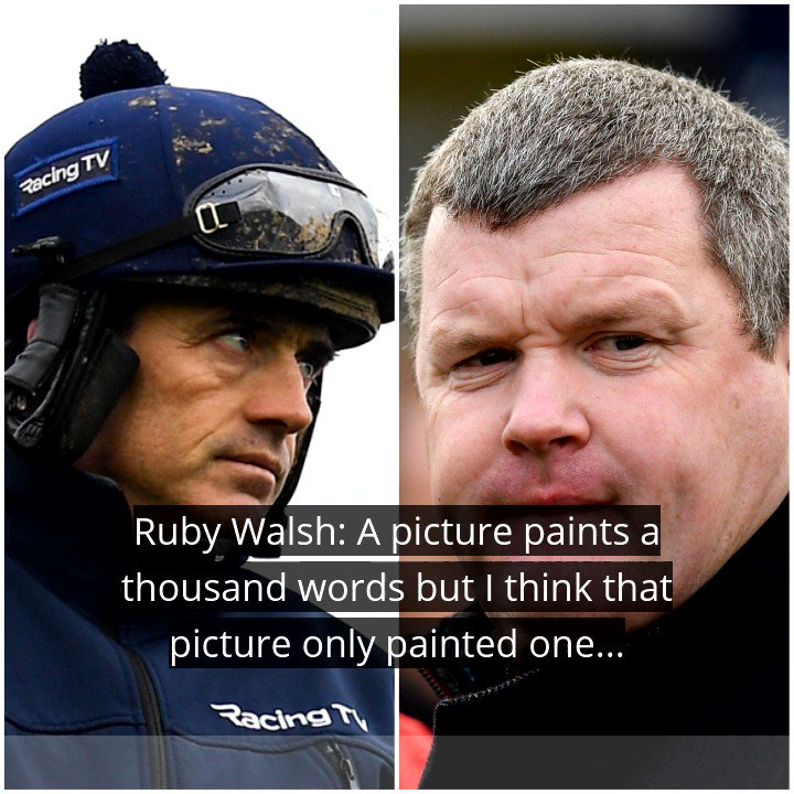 'I was always taught that the duty of care to an animal is as much when it's dead as it is alive'  Ruby Walsh spoke about the photograph of Gordon Elliott sitting on a dead horse which emerged online over the weekend on this evening's @GameOn2FM #RTESport