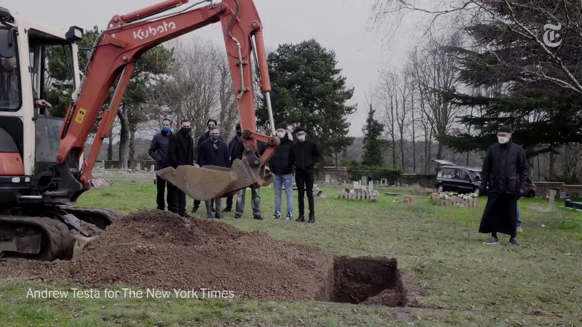 "Fatalities have been especially high among some minorities. ""We used to bury two to three a week in summer, four to five in winter. Now it's six a day,"" said Idris Patel, who founded a Muslim burial trust in London. His group had to rent two more diggers."