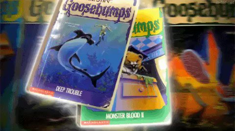 I used to have a reading buffet with the Goosebumps books. #FirstNovel