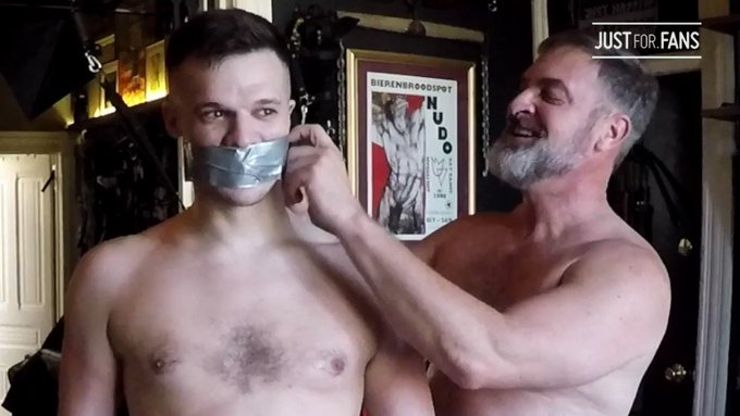 Untaping a duct tape gag is my favorite part! Especially on devilish @ScottRyderXXX...  See this and