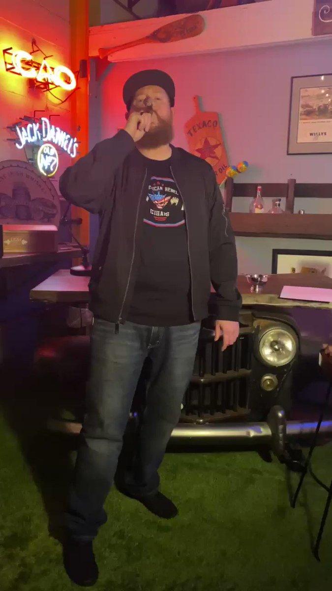 Prize pack announcement by @americanrebelmj #americanrebelcigars #smoke #chirpchirp #winner @CodyRhodes @FrankieKazarian @stogiebird @guttercandyrock @AEW #AEWRevolution #giveaway #wrestling  #Shaq #aew #barberpole #GoBigShow #lecciatobacco #cigars #winner