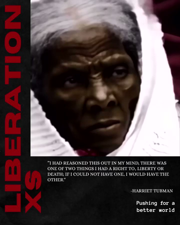 For Women's History Month I want to honor our ancestor Harriet Tubman. An abolitionist, radical activist, dreamer, & the Moses of her people.   Reminder that women continue to push the people towards liberation.  #harriettubman #womenshistorymonth #blackhistorymonth #liberationxs