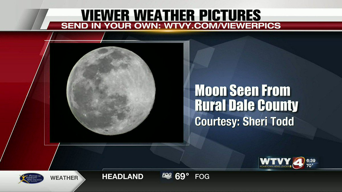 Check out today's viewer weather pictures, including a great view of the Moon, and a @landmarkpark sunset courtesy of @WinterlightHome   #alwx #Moon #Sunset