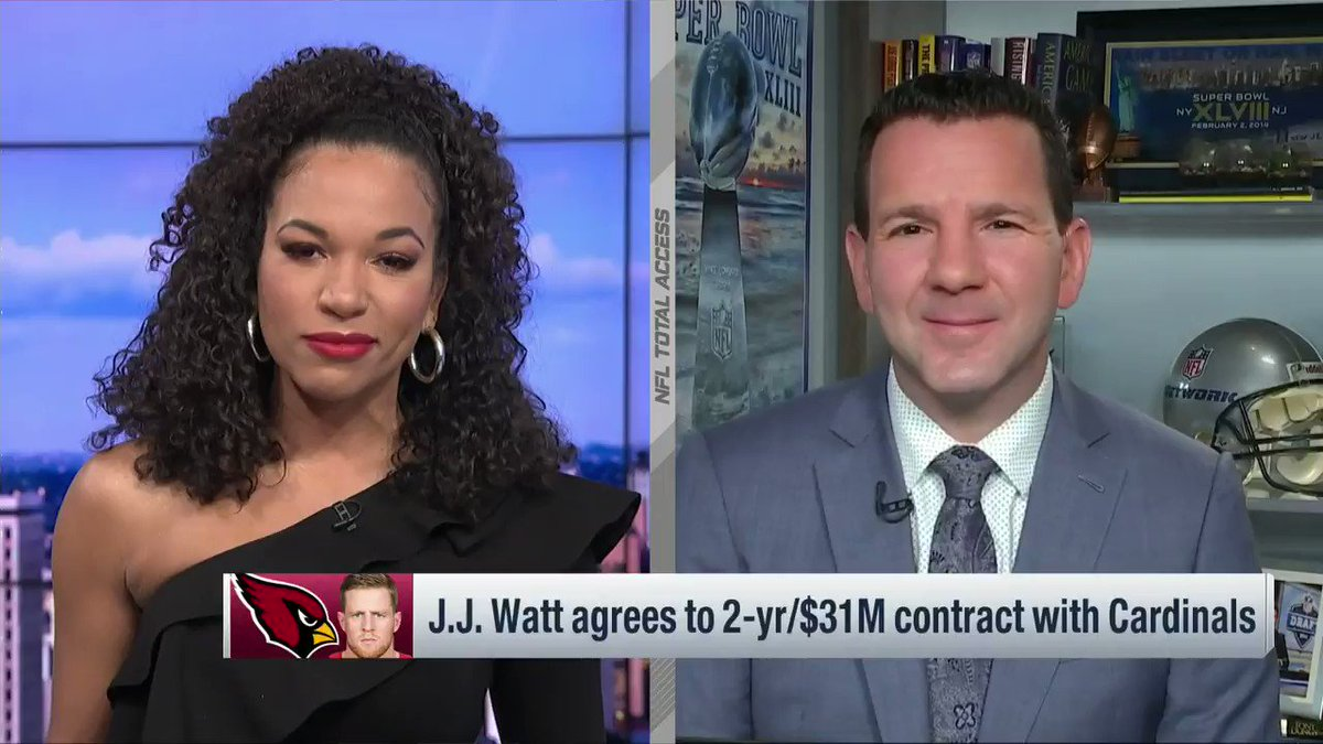 Replying to @RapSheet: From @NFLTotalAccess: Wrapping up new #AZCardinals DE JJ Watt's whirlwind day...