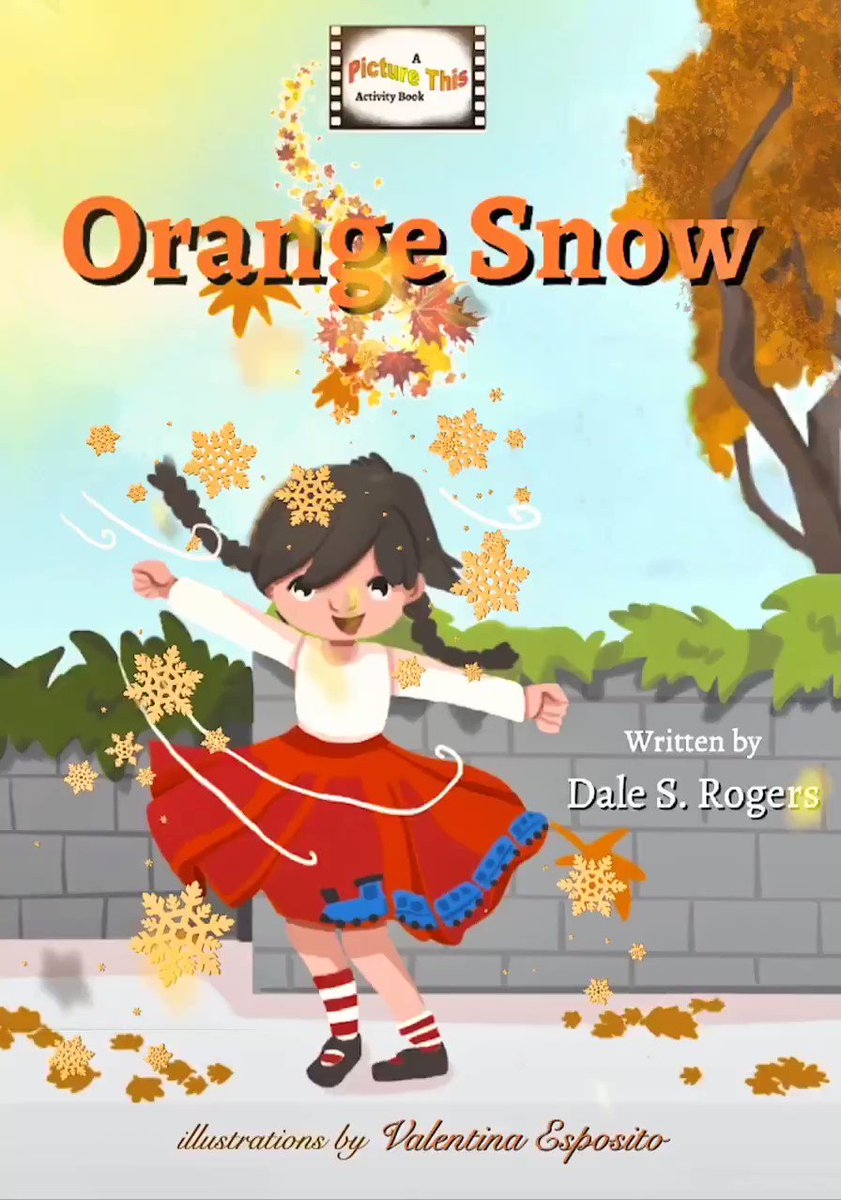#Snow might disappear before long, but it can live on in our #imaginations--especially if it's #orange!  #MondayMotivation #picturebooks #kids #winter #fun