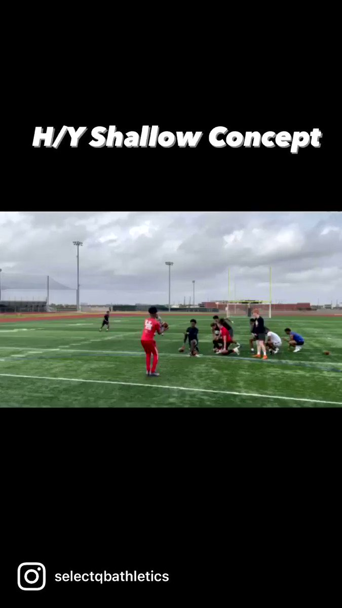 H/Y shallow concept  Dig Post Concept vs a Cover 4 safety. Couple clips from this past Sundays group session.🎯 #SundayFunday