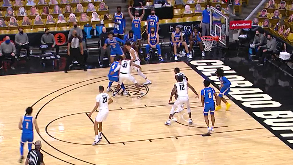We felt that Buffs stampede! 💨  Jabari Walker's BLOCK party for @CUBuffsMBB is the Play of the Week.  #GoBuffs | @PacPremierBank