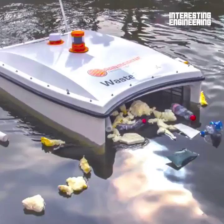 [#Innovation] This is an industrial autonomous surface vessel that cleans up the sea via @IntEngineering  #AI #Engineering  @labordeolivier @kalydeoo @FrRonconi @pascal_bornet @ShiCooks @haroldsinnott @Damien_CABADI @diioannid @Fabriziobustama @GlenGilmore @enricomolinari https://t.co/E6TgYxAqfo