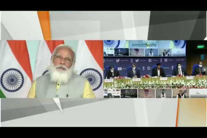 Our ports have reduced waiting time for inbound and outbound cargo. We're investing heavily in development of storage facilities at the port and plug-and-play infrastructure for attracting industries to port land. - Honourable PM Shri @narendramodi ji  #MaritimeIndiaSummit