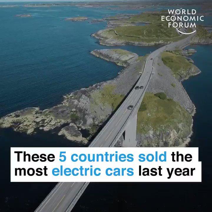Which countries have the most #electric cars?🚗⚡️  1 #Norway 🇳🇴 2 #Iceland 🇮🇸 3 #Sweden 🇸🇪 4 #Netherlands 🇳🇱 5 #Finland 🇫🇮  #EV #Mobility @wef @chboursin @NevilleGaunt @DrJDrooghaag @baski_LA @Hana_ElSayyed @ShiCooks @PawlowskiMario @kalydeoo @JeroenBartelse @AkwyZ @segundoatdell https://t.co/BL8FWOHnvV