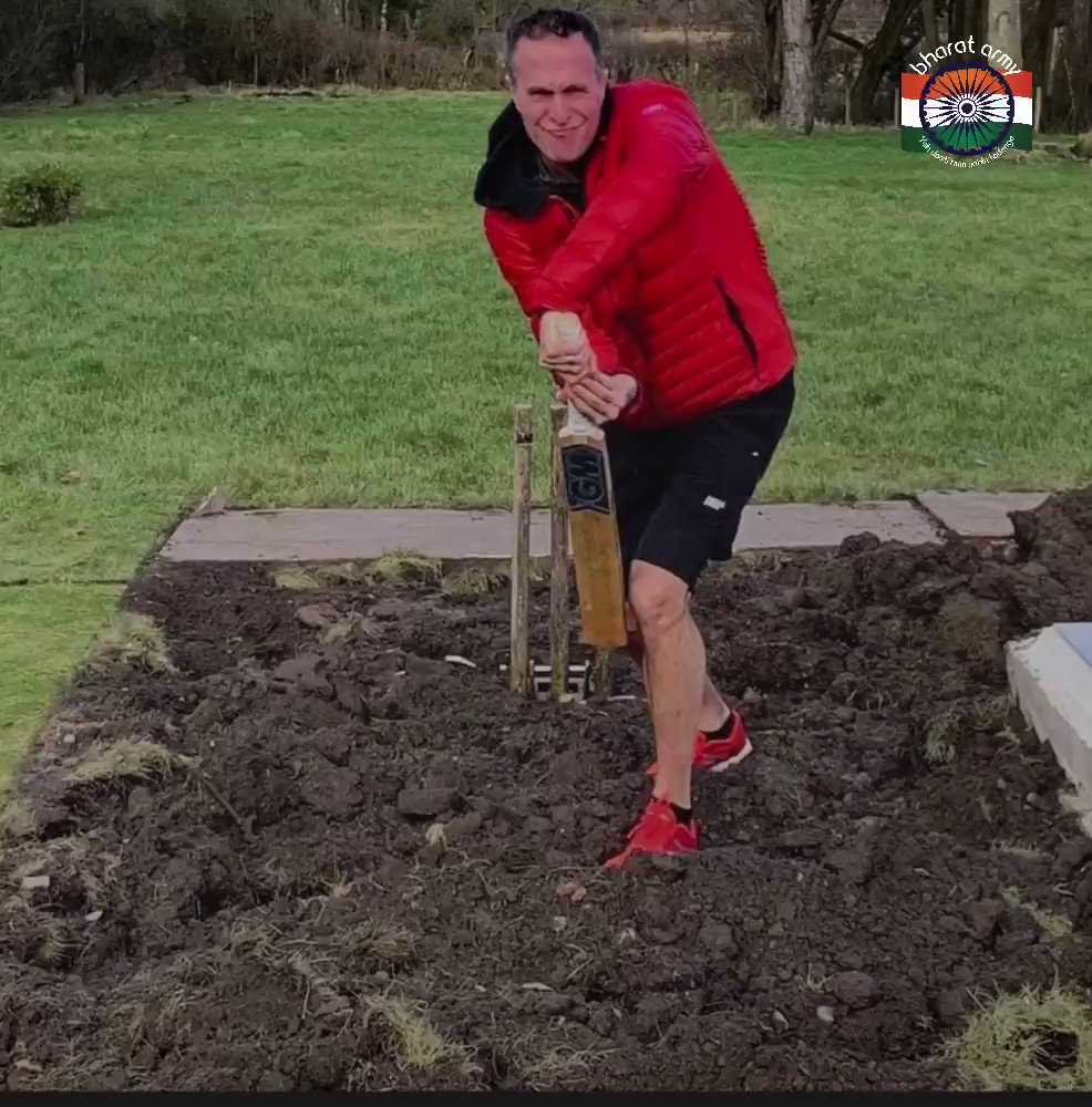 Not sure about that @MichaelVaughan   Looks like you're exposing that off stump a little too much. Maybe check your guard again?   No wonder England are struggling in India! Move #OnOn😴   #BharatArmy #BABants #COTI 🇮🇳
