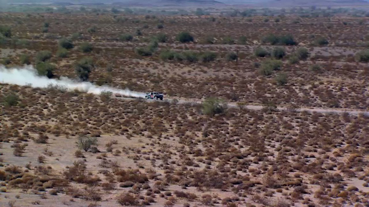 In today's #TruckTuesday we watch @BestintheDesert Trick Truck racer Steve Olliges going so fast that our helicopter can't keep up!  Best in the Desert 📺  #MAVTV #MotorsportsNetwork ️  🗓️. Tomorrow 3/3 ⏰  10pm ET  📍  #Parker 425 #BestIntheDesert #offroad #truck #desertracing