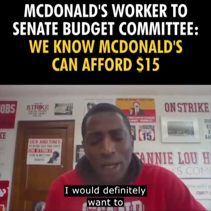 .@McDonalds pays us poverty wages and forces us to rely on public assistance like food stamps and Medicaid just to get by. McDonald's low wages are subsidized by taxpayers. It's time for McDonald's to pay workers our fair share. #Fightfor15 #RaiseTheWage