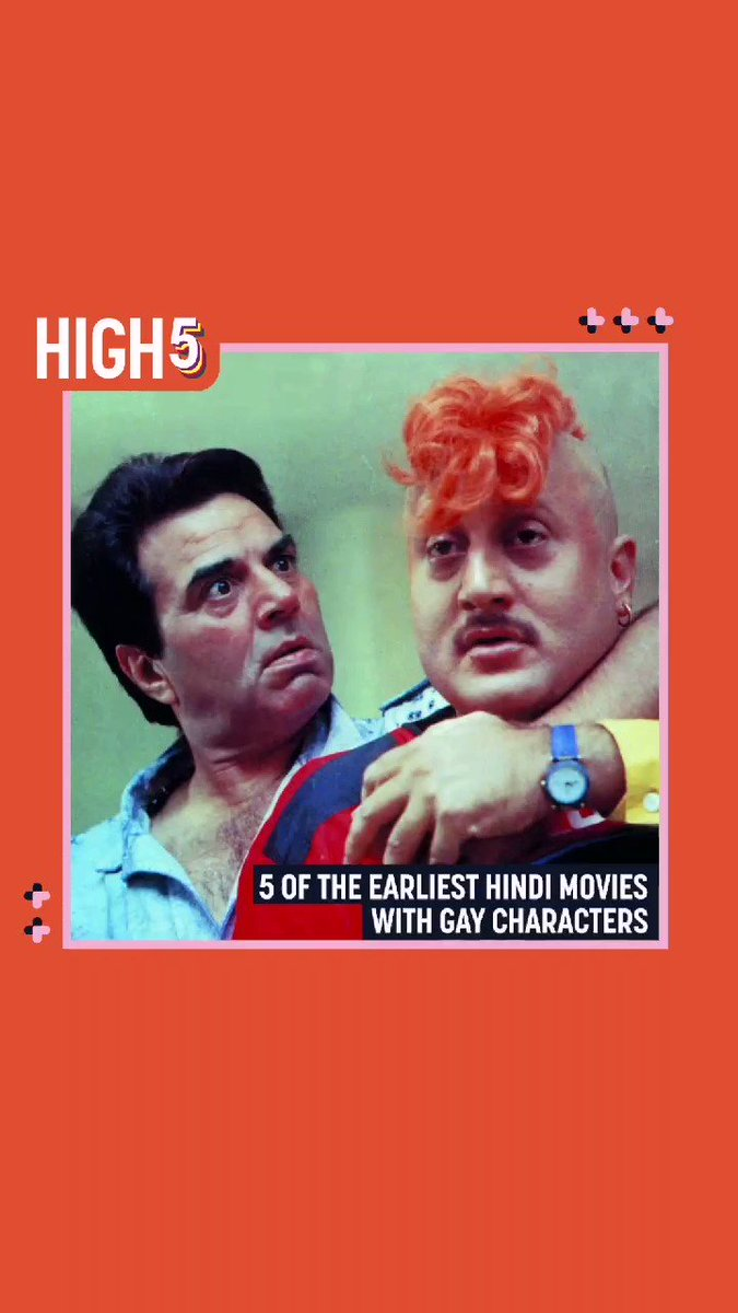 Paving the way, this week's #High5 highlights the earliest Hindi movies with gay characters. Any you remember? What are some more recent gay characters dear to your heart?  #InsiderHigh5 #bollywood #queercinema #queerindia