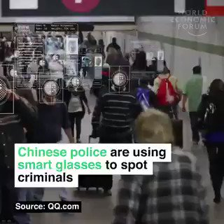 Chinese police are using smart glasses to spot criminals by @wef  #IoT #Business #MachineLearning #AI  Cc: @xbond49 @scobleizer @wearableguru @arduino @jimharris https://t.co/y4mokCDZH1