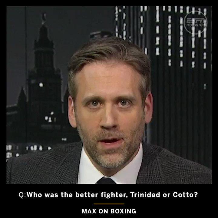 .@MaxKellerman says he'd take Tito Trinidad over Miguel Cotto 🇵🇷