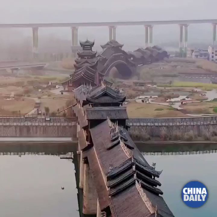 #GlamorChina This wooden bridge brings an extra bit of splendor to its home in Chongqing. https://t.co/EylgwOCMik