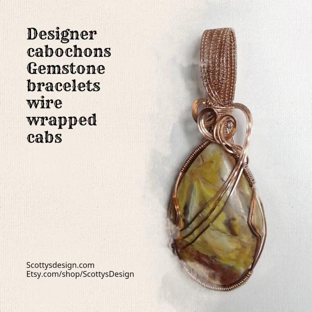#copperwirewrap  #wirewrap #cabochons #wirejewelry #wireweave #gemstones #handmade #wirewrapjewerly  #lapislazuli  #headywrap #pendant #heady #lapadaryartist #designercabochons #cabochonforsale #loveandcare #wire  #Scottgm # #www.etsy.com/shop/ScottysDesign #www.ScottysDesign.com