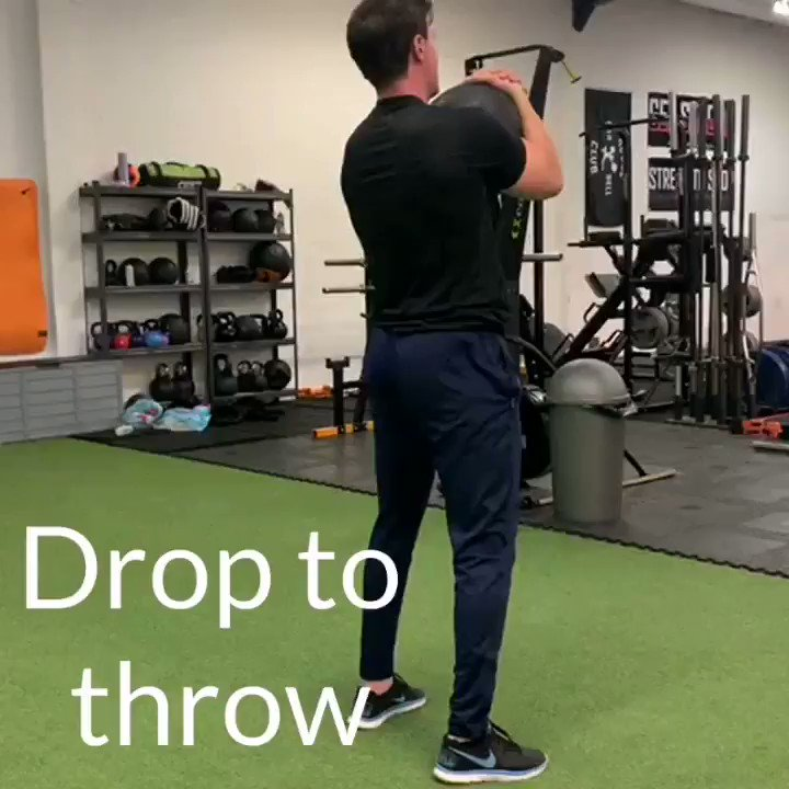 I love throws! Such an effective way to apply controlled aggression into something.  I like adding in a drop to split stance to make the exercise more reactive and suited to combat sport.   #MMA #MMATwitter #medball