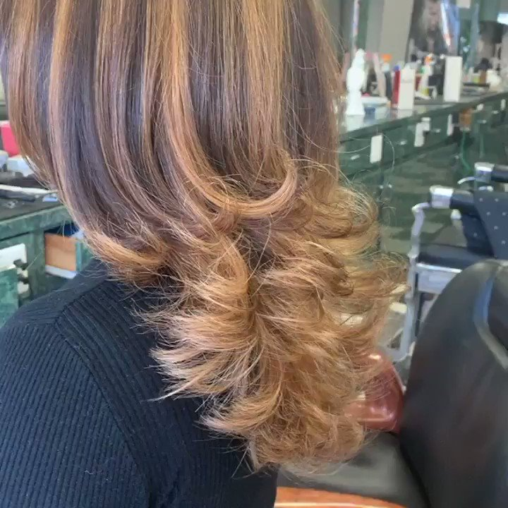 #Longlayers #haircut #partialhighlights more layersfrom the hair neck line down with out losing your length and having a beautiful #hairblowout with the tips flips out if you looking to give the attraction and beautiful hairstyle don't hesitate to call at 703 931 0143