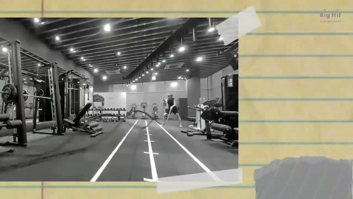 Workout by Namjoon 😍🙈  #NAMJOON #BlueAndGrey #BTS #방탄소년단 @BTS_twt