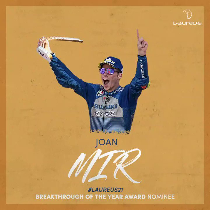 💬 If you look at the people that won the Laureus, to have a chance to win is something really, really special for me. I didnt expect it but well, I hope to win. #Laureus21 Breakthrough of the Year Award Nominee, @JoanMirOfficial 🙌