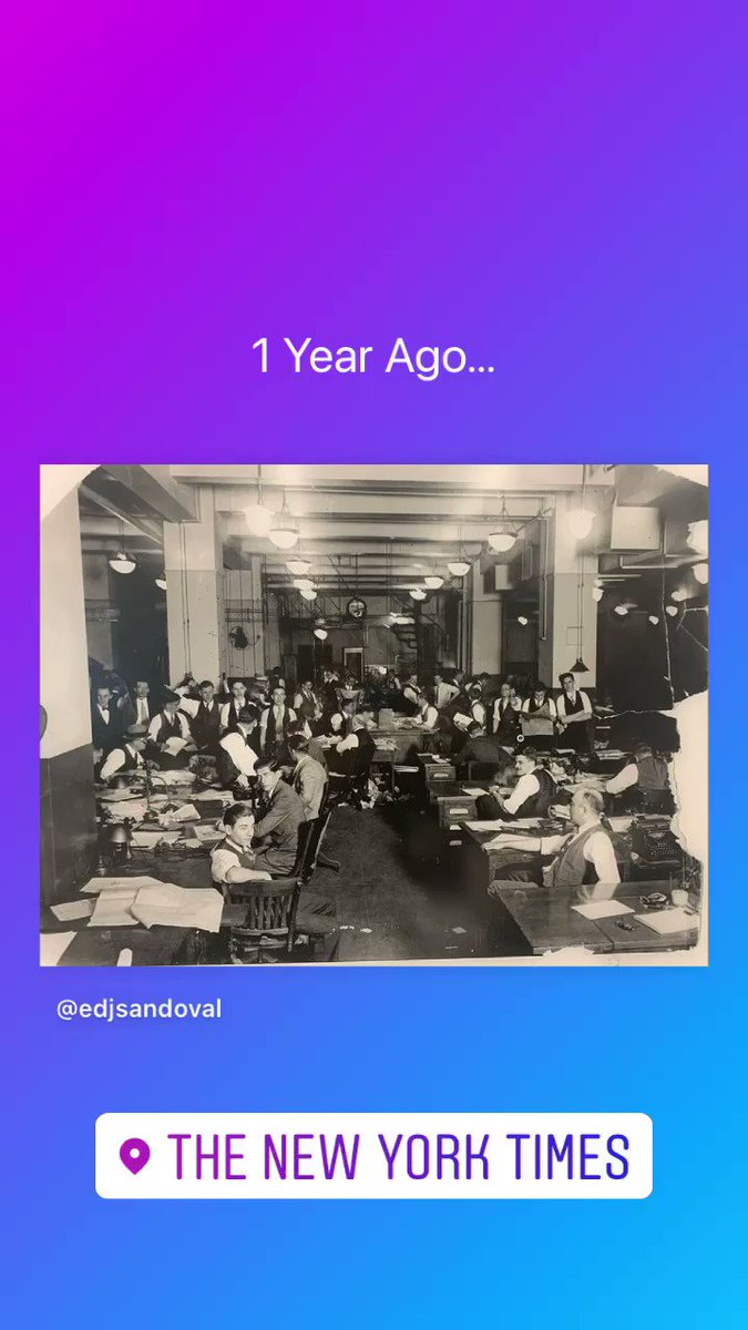 A year ago I was wondering around the @nytimes newsroom when I came across this Grey Lady historical gem. The Times, They Are a-Changin' (as @bobdylan would say) #newsroom #wednesdaythought #WednesdayMotivation