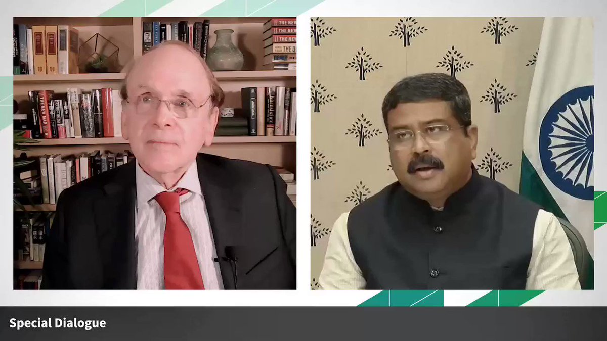 Replying to @CERAWeek: .@dpradhanbjp @PetroleumMin at #CERAWeek on India's energy investment agenda: