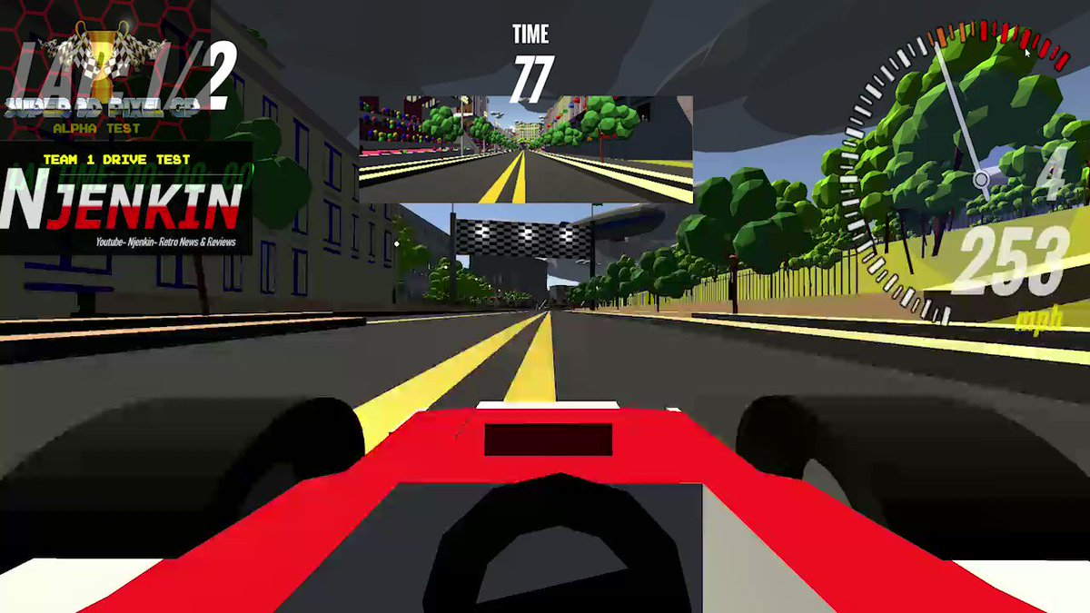 The man who shouts 'Go' on a flying lap of Super 3D Pixel GP.  #3dpixelgp #lowpoly #indiedev #games #gamedev #gaming #indiegame #polygon #game #videogames #3d #design #gamedevelopment #indiegamedev #indiegames #steam #RacingGame #retrogaming