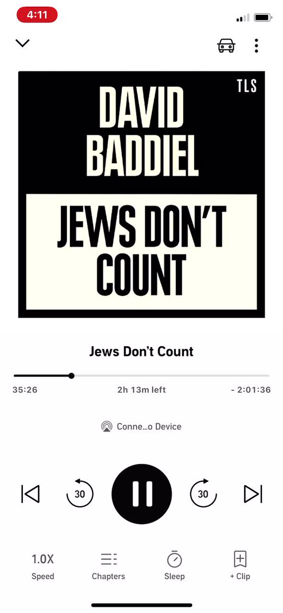 **Reading JEWS DON'T COUNT by @Baddiel and if you believe you're anti racist maybe read it just to make sure**