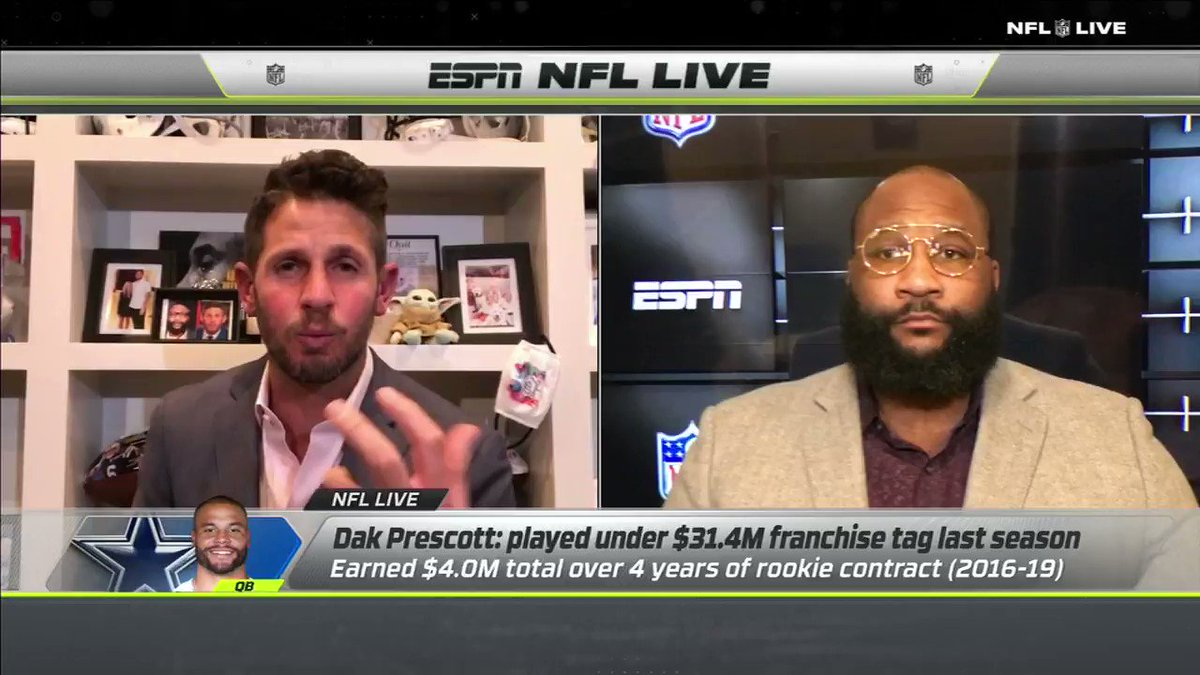 """""""You can't want more than $38 million a year. There's three guys that get 35... YOU'RE NOT THEM!!!""""  @danorlovsky7 let us know his opinion on Dak's contract situation 😳 https://t.co/BGDVtIdSw4"""