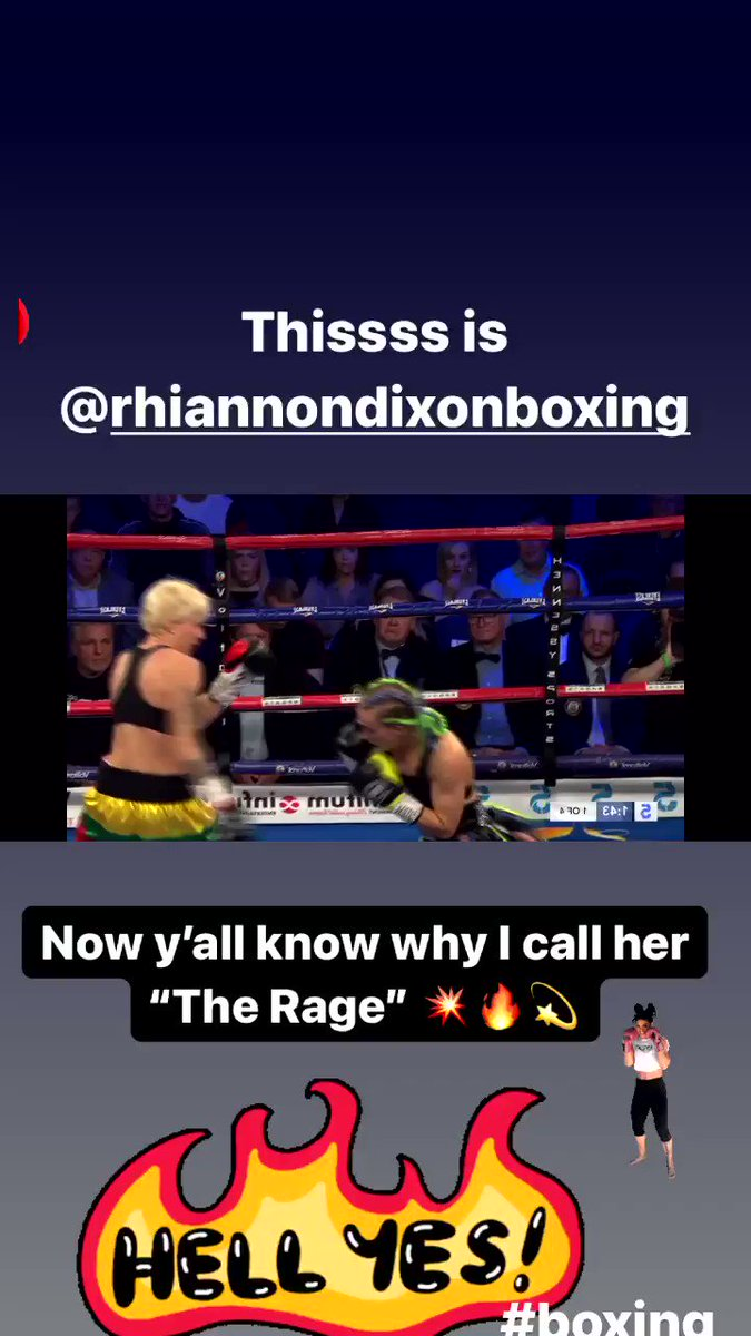 🗣Check out my interview with  @RhiannonDixon3  And if you don't know who she is...Now you know! #boxing 🥊  🎥
