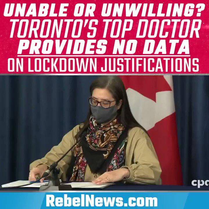 What data is Eileen de Villa using to keep Toronto under lockdown?