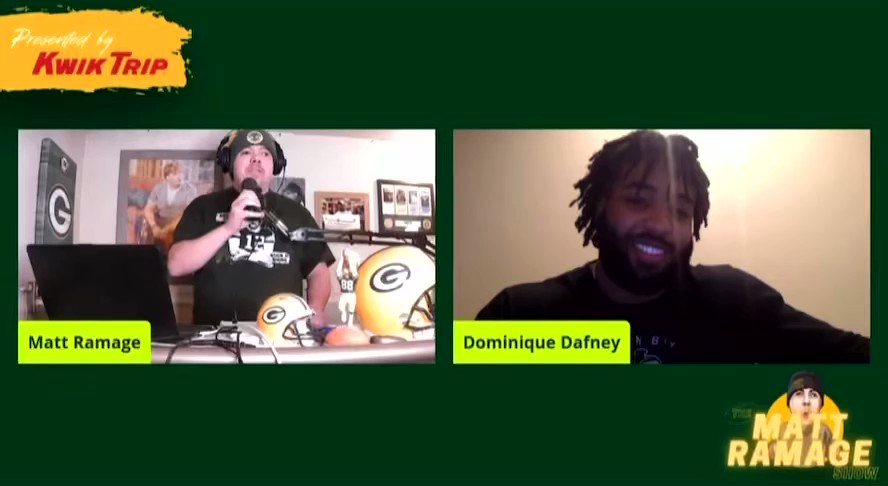 @DDafney24 talking about his first NFL TD #gopackgo #packers