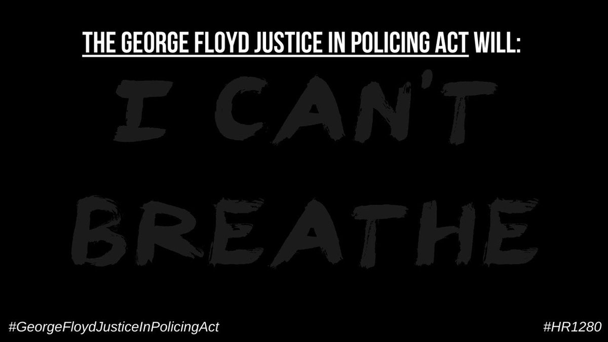 """Last year, George Floyd uttered his last words, """"I can't breathe"""" - Americans took to the streets to peacefully protest racial injustice & police brutality. Yet, it continues. With tonight's vote the George Floyd #JusticeInPolicingAct is closer to becoming the law of the land."""