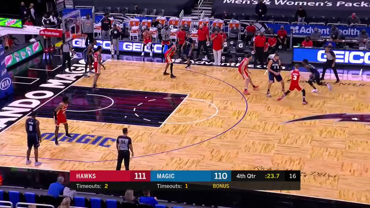 Final: Magic 112-115 Hawks  Orlando blow a 19 point lead, but the Hawks torch the Magic from beyond the arc in the 4Q to take the win.  Very questionable officiating down the stretch saw tempers boil over after the final buzzer 😤  #MagicTogether