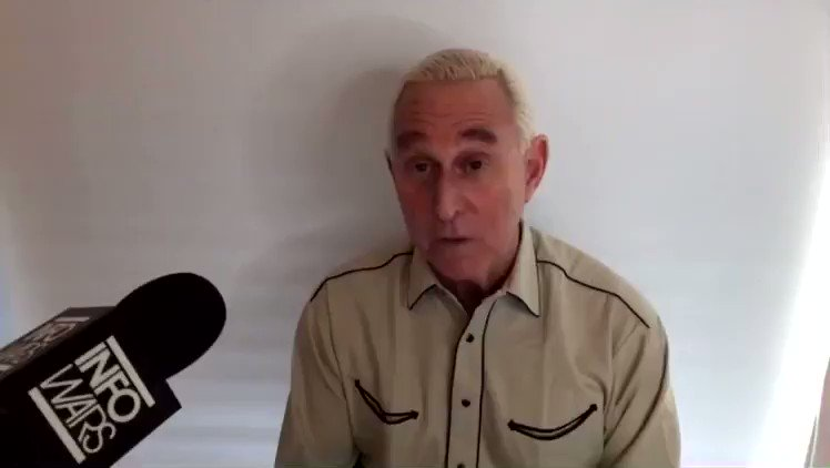 "Alex Jones interview of Roger Stone on Jan 4. ""I don't know what Trump has up his sleeve (Jan 6), but whatever it is, I will support him 1,000%... He's going to go down fighting, if he goes down at all."" @FBI"